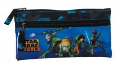 Estojo Escolar 2 fechos Star Wars Rebels