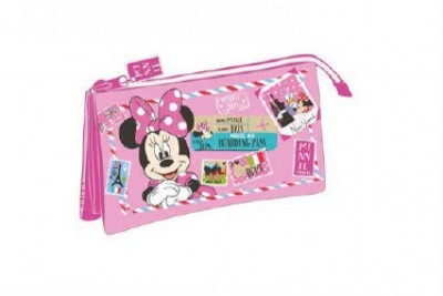 Estojo escolar 3 Compartimentos Disney Minnie NewYork-Paris