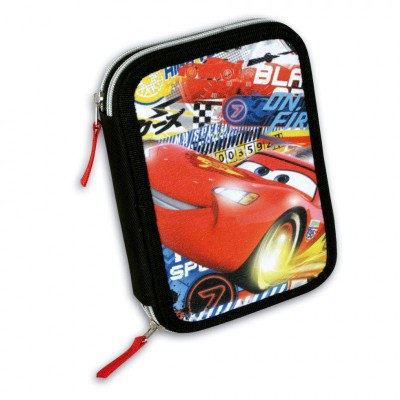 Estojo escolar duplo Cars McQueen Flash