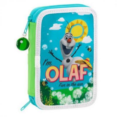 Estojo escolar duplo Olaf Frozen Sun