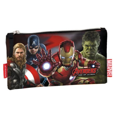 Estojo escolar plano Avengers Marvel Mighty