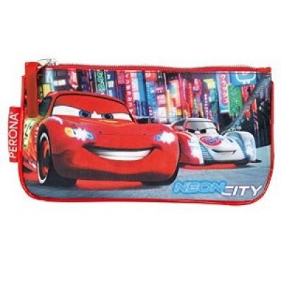 Estojo escolar plano Disney Cars Neon City