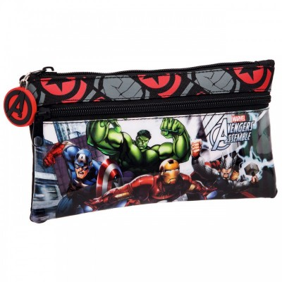 Estojo escolar plano Marvel Avengers Assemble