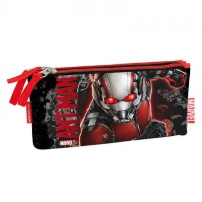 Estojo escolar plano triplo Ant-Man Marvel Red