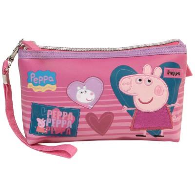 Estojo escolar Porquinha Peppa Love
