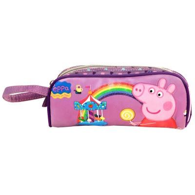 Estojo escolar Porquinha Peppa Rainbow