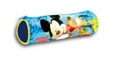 Estojo Escolar redondo Mickey e Pluto