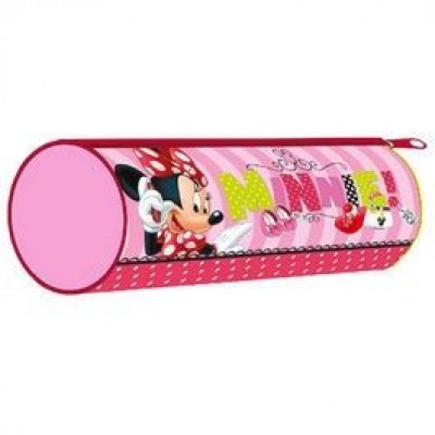 Estojo Escolar Redondo Pink Minnie