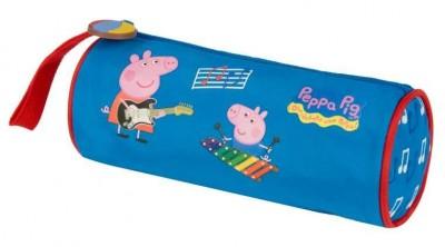 Estojo Escolar redondo Porquinha Peppa Blue