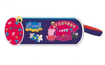 Estojo Escolar redondo Porquinha Peppa Perfect