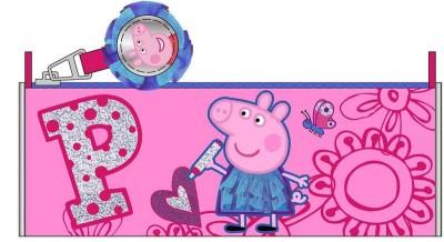 Estojo Escolar redondo Porquinha Peppa Pink