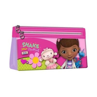 Estojo escolar triplo Doutora Brinquedos Shake