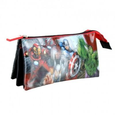 Estojo escolar triplo Marvel Avengers New Team