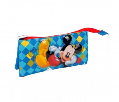 Estojo escolar triplo Mickey Color Diamond