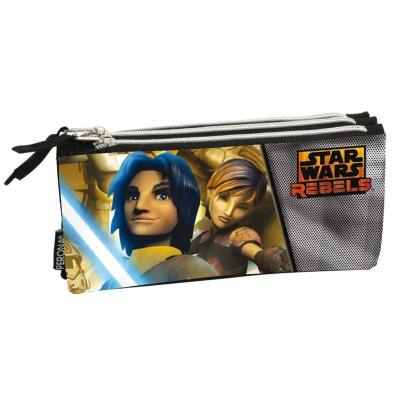 Estojo Escolar triplo Star Wars Rebels Republic