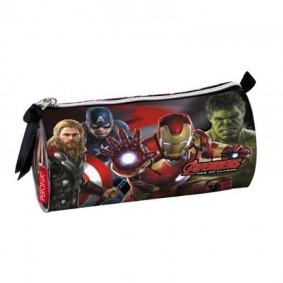 Estojo escolar tubo Avengers Marvel Mighty