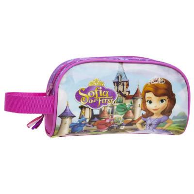 Estojo necessaire escolar com alça Princesa Sofia Castle