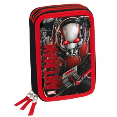 Estojo plumier triplo Ant-Man Marvel Red