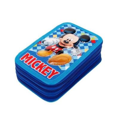 Estojo Plumier triplo Mickey Color Diamond