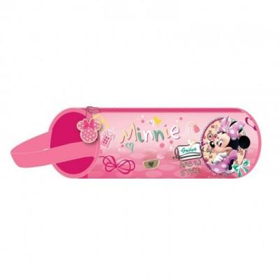Estojo Redondo 20 cm Minnie Happy