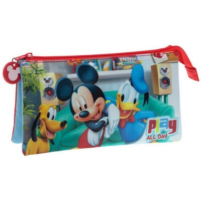 Estojo triplo de Mickey - Play