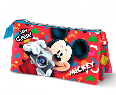 Estojo Triplo Mickey Say Cheese