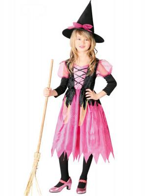 Fato Bruxa Pink halloween