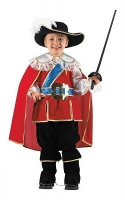 Fato Carnaval  Mosqueteiro real deluxe e espada