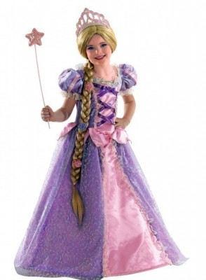 Fato Carnaval rapunzel com peruca
