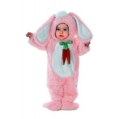 Fato Coelha Bebé Rosa Cenoura