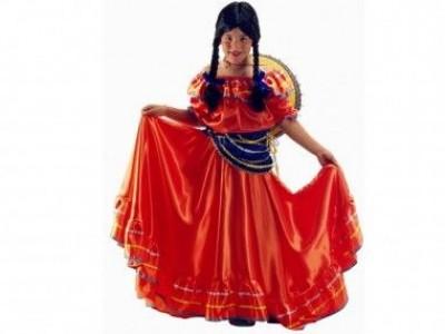 5113349b4dcc3 Fato de Carnaval de Criança Menina Mexicana e Chapéu