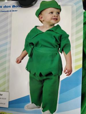 Fato de Carnaval de criança Menino Robin dos Bosques