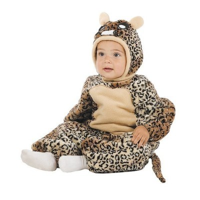 Fato de leopardo bebé