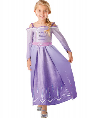 Fato Elsa Roxo Frozen 2