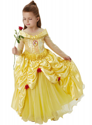 Fato Princesa Bela Premium Disney