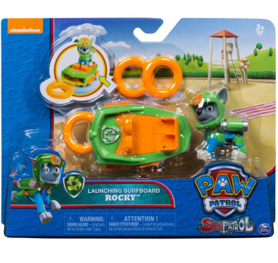Figura Deluxe Rocky + Prancha Sea Patrol
