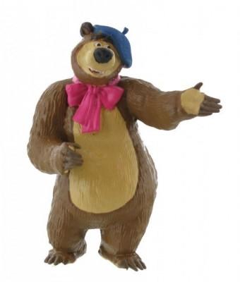 Figura Masha Urso c/ boina 7 cm