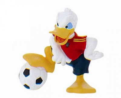 Figura Pato Donald Futebol Espanha