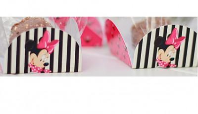 Forminhas cupcake de cartao Minnie Mouse