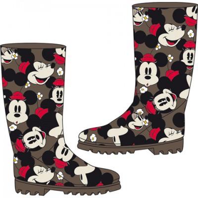Galocha cano alto Disney Minnie