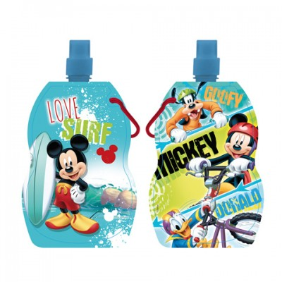 Garrafa dobravel c/ asa Mickey