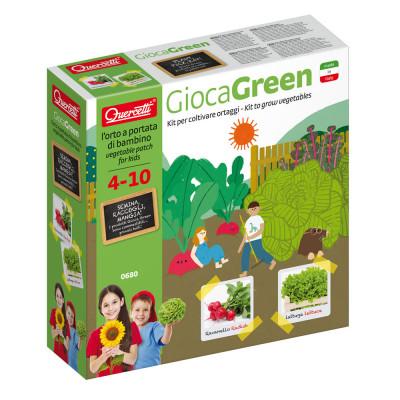 GiocaGreen Aprendo a Plantar Vegetais (Rabanete e Alface) Quercetti