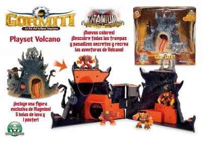 Gormiti Volcano e figura exclusiva