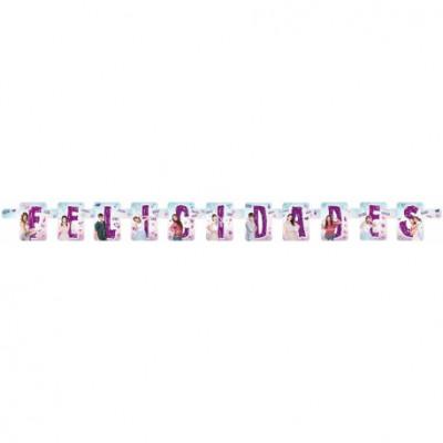 Grinalda aniversário Violetta Disney (1.5m)