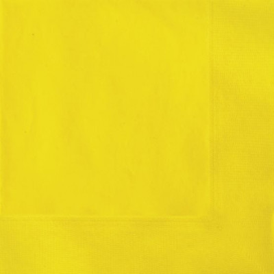 Guardanapos Cocktail Amarelos - 20 Und