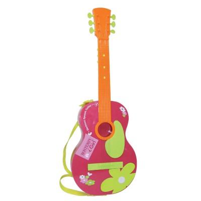 Guitarra Espanhola com 6 Cordas Metálicas Rosa