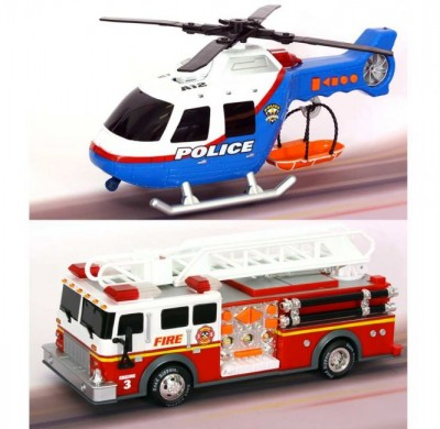 Helicoptero carro bombeiros Emergência 36 Cm RR