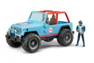 Jeep Corrida todo terreno c/ figura (azul)