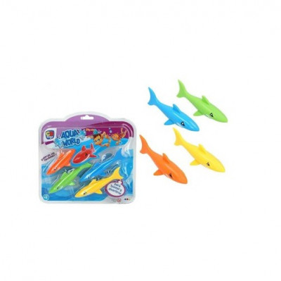 Jogo Aquático Piscina Tubarões