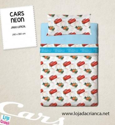 Jogo Cama Lençóis Cars Neon (Casal)
